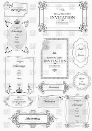 set of ornate vintage frames with ornament vector clipart