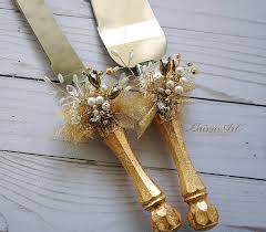 wedding cake server gold wedding cake server set knife cake cutting set wedding cake