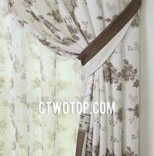 White And Brown Curtains And Brown Leaf Custom Country Curtains And Drapes