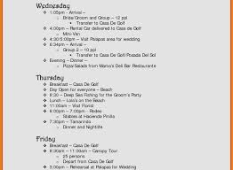 wedding itinerary template for guests wedding schedule template beautiful 6 free wedding itinerary