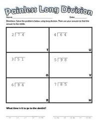 printable long division worksheets with remainders and without