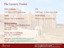 the luxury trains of india ppt