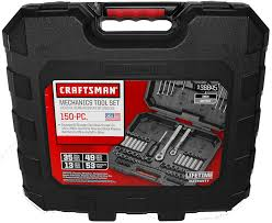 amazon com craftsman 150 piece mechanics tool set 38845