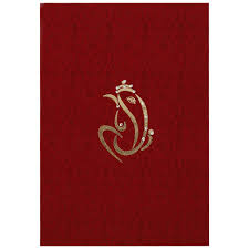 hindu wedding card hindu wedding card in satin with ganesha symbol wedding