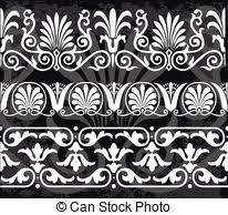ancient pattern seamless set of antique clip