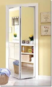 Mirrored Folding Closet Doors Creative Closet Doors Framed Bright White Mirror Bi Fold Closet