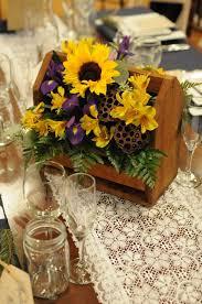 Sunflower Centerpiece Rustic Sunflower Centerpiece Centerpieces For The Reception