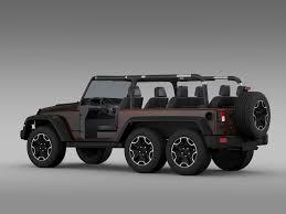 jeep wrangler models list jeep wrangler rubicon 6x6 2016 3d model cgtrader