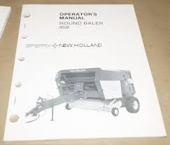 Sperry New Holland 858 Round Baler Operator U0027s Manual Serial