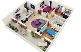 three bedroom flat floor plan 20 plans for 3 room apartments with modern 3d designs home
