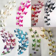 Cute Diy 3d Butterfly Wall Stickers Decals Wall Sticker Art Mural