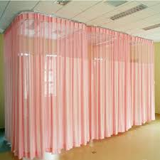2017 hospital fireproof solid color curtains room divider curtain