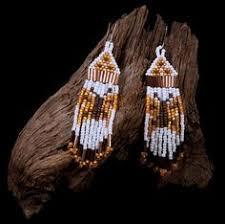 style beaded earrings butterfly design