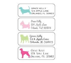 return address labels lydia pugs
