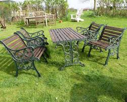 Vintage Cast Iron Patio Furniture - antiques atlas cast iron garden table u0026 4 chairs