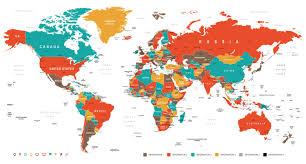 World Map Wall Decor World Map Wall Art Canvas Wall Art Wood Sign Or Print Nautical
