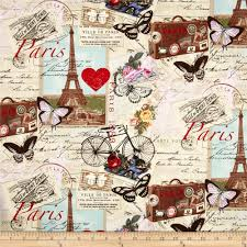 timeless treasures paris collage antique from fabricdotcom