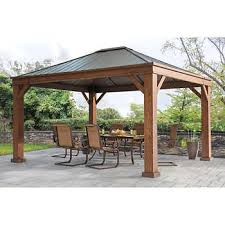Gazebo With Awning Gazebos Costco