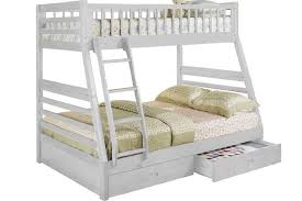 Bunk Bed White White Bunkbed With Storage Hideaway Bunk The Futon Shop