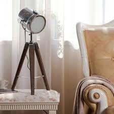 Paris Floor Lamp Mini Desk Lamp Floor Lamp Decorative Light Design Wooden Tripod