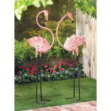 amazon com flamboyant flamingo tropical iron home garden stakes