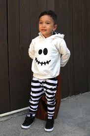 ghost hoodie and harem pants or leggings toddler ghost
