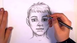 how to draw realistic looking anime kid baby boy face video