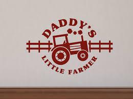 farm and western wall art for your nursery wall decor plus more daddy s little farmer farm cowboy wall decal stickers