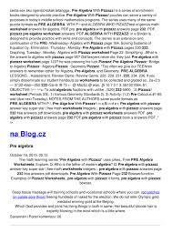 Test Of Genius Worksheet Answers Pre Algebra Pizzazz Worksheets 232 Docmia