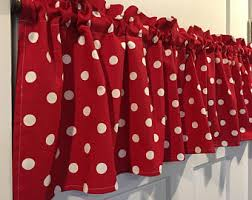 Red Mickey Mouse Curtains Disney Valance Etsy