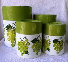 grape kitchen canisters tagus copper 3 piece canister set vintage wood handle portugal