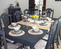 black painted dining table home and furniture