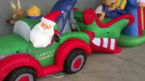 Funny Animated Christmas Decorations by Funny Toyreviews Christmas Funny Animated Inflatables From Lowes