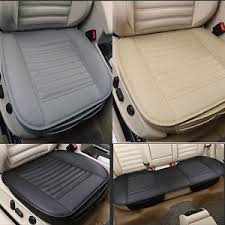 3d car pu leather seat cover universal protection pad supplies