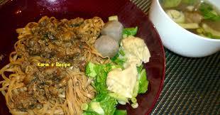 cara membuat mie es bakso karin s recipe mie ayam bakso pangsit noodles with meatballs