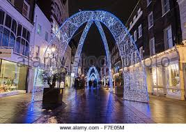 christmas lights in south molton street west end london united