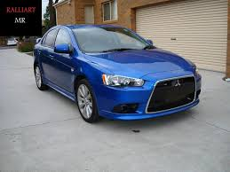 lancer with ralliart face led drl lights evoxforums com
