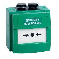 break glass door release emergency exit devices