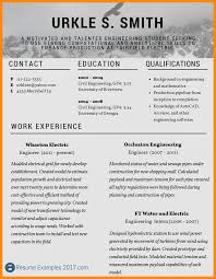 Resume Samples Engineering Students by 9 Resume Example 2017 Reporter Resume