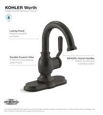 Single Hole Faucet For Bathroom by Kohler Worth Single Hole Single Handle Bathroom Faucet In Oil