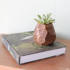 faceted geometric succulent planter fernweh woodworking