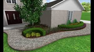 landscape design 3d image slideshow front walkway transformation