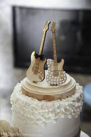 guitar cake topper wedding cake topper guitar cakes fondant for anniversary orange