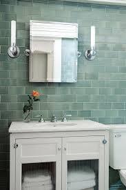 Blue Glass Bathroom Accessories Sea Glass Tile Bathroom Traditional With Bathroom Remodel