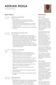 production coordinator resume samples visualcv resume samples