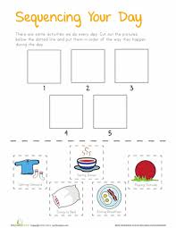 sequencing your day printables preschool worksheets free and