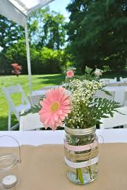 Country Centerpiece Ideas by Centerpieces For Our Rustic Country Bridal Shower Mason Jars