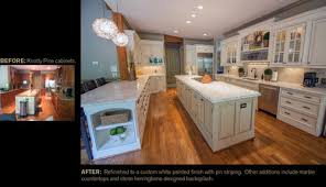 painting knotty pine kitchen cabinets white kitchen transformation knotty pine to smooth white painted