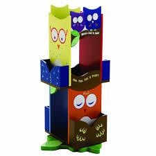 Oak Revolving Bookcase Amazon Com Wildkin Owls Revolving Bookcase Toys U0026 Games