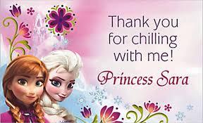 6 frozen thank you cards free u0026 premium templates